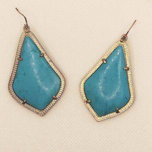 Kendra Scott | Alex Drop Earrings Gold Turquoise